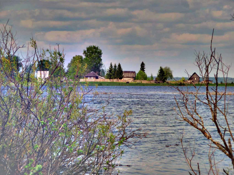 Река березайка вид на деревню рютино